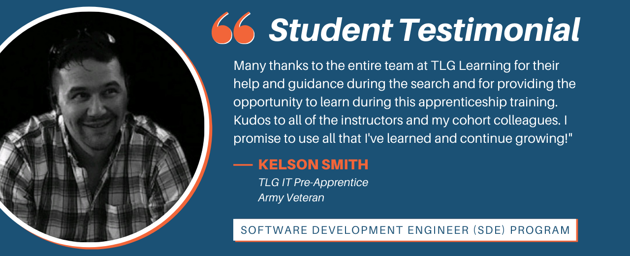 Student Testimonial from one of our IT Pre-Apprentice SDE graduates.