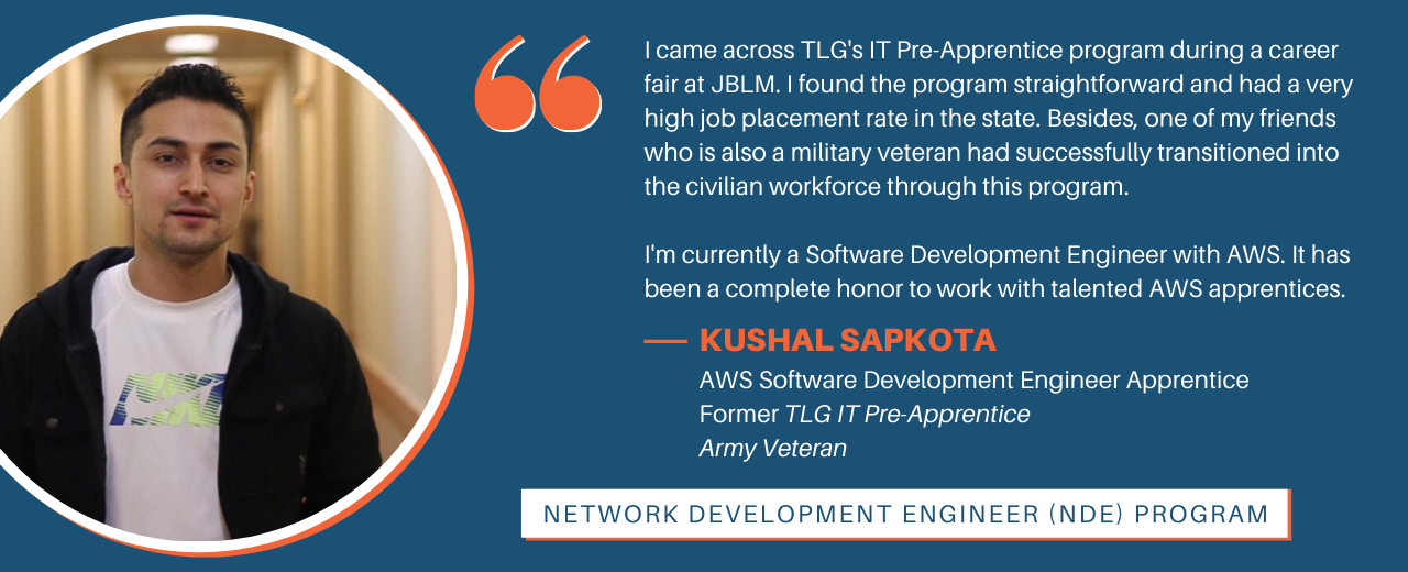 Student Testimonial from one of our IT Pre-Apprentice NDE graduates.