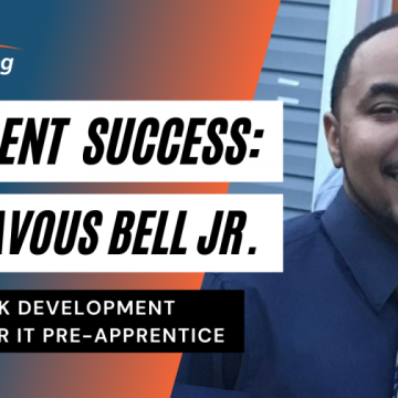Student Success Image Header of Genavous Bell Jr a Network Development Engineer IT Pre-Apprentice